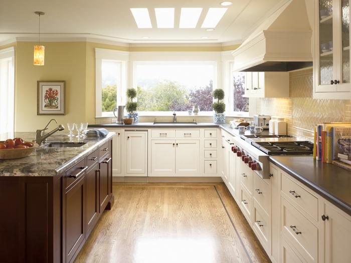 Cream Omega kitchen cabinets