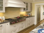 Coordinating range hood and cabinets